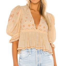 Tallulah Embroidered Blouse | Revolve Clothing (Global)