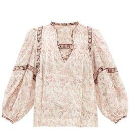 Violette floral-print cotton-voile blouse | Matchesfashion (Global)