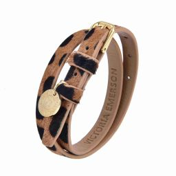 Double Wrap on Safari Textured Leather | Victoria Emerson