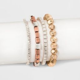 Multi Row Stretch with Cubed Shaped Beading Bracelet Set - Universal Thread™ | Target