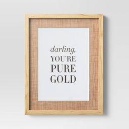 "14"" x 18"" Darling You're Gold Framed Print - Opalhouse™   Target"