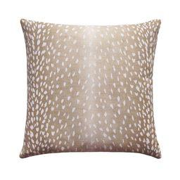 Animal Print Pillow, Beige and White Linen Pillow, Fawn Print Decorative Pillow, Deer Pillow, Bei...   Etsy (US)