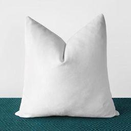 White Velvet Pillow Cover Solid White Throw Pillows White Lumbar Cushion Modern Minimalist White ...   Etsy (US)