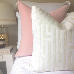 Cut Velvet Geo Pillow - Off-White Velvet Pillow - Geometric Pillow - Modern Pillow - White Pillow... | Etsy (US)