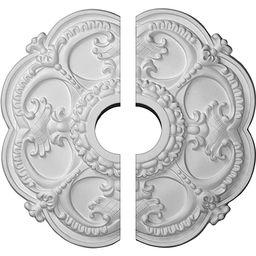 "Ekena Millwork CM17RO2 Rotherham Ceiling Medallion, 18""OD x 3 1/2""ID x 1 1/2""P (Fits Canopies up ... | Amazon (US)"