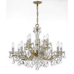 Maria Theresa 12-light Gold/Crystal Chandelier | Overstock