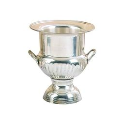 Brass Wine Bucket With Two Side Handles In Traditional Style, Silver   Overstock