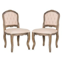 Safavieh Eloise French Leg Dining Chairs (Set of 2) | Bed Bath & Beyond