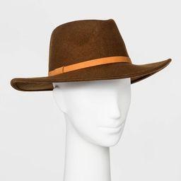 Women's Felt Wide Brim Fedora Hat - Universal Thread™ Brown | Target