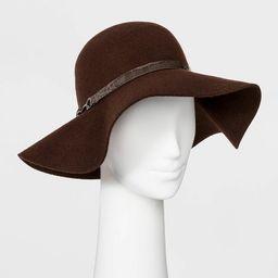 Women's Felt Wide Brim Floppy Hat - A New Day™ Brown | Target