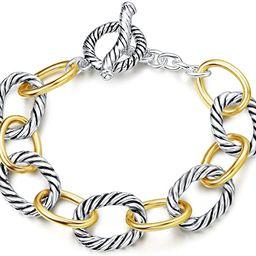 Bracelet Designer Brand Inspired Antique Women Jewelry Cable Wire Vintage Valentine   Amazon (US)