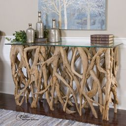 Spectacular Driftwood Console Table   Houzz (App)