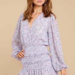Better With You Lavender Floral Print Dress | Red Dress