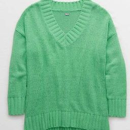 Aerie Chenille V-Neck Oversized Sweater   American Eagle Outfitters (US & CA)