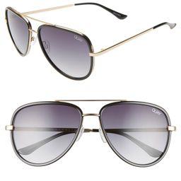 x JLO All in 56mm Aviator Sunglasses | Nordstrom