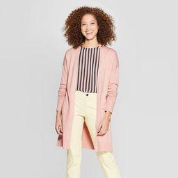Women's Long Sleeve Back Belt Open Cardigan Sweater - A New Day™   Target
