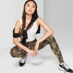 Women's Camo Print High-Rise Leggings - Wild Fable™ Olive   Target