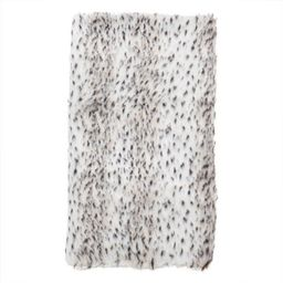 Faux Fur Spotted Snow Leopard Poly Filled Throw Blanket | Overstock