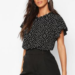 Polka Dot Frill Sleeve Woven Blouse   Boohoo.com (US & CA)