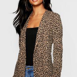 Tall Leopard Print Blazer   Boohoo.com (US & CA)