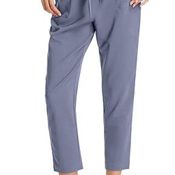 GRACE KARIN Women's Cropped Paper Bag Waist Pants with Pockets | Amazon (US)