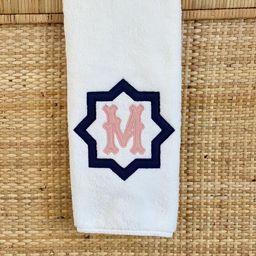 "Custom Applique Monogram Hand or Bath Towel, The ""Nova"" Monogram, 100% Turkish Cotton Towel, Mono...   Etsy (US)"