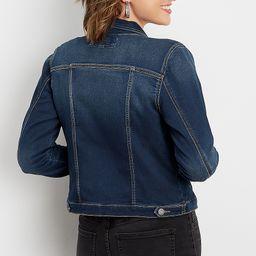 super soft dark wash denim jacket   Maurices