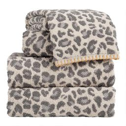 Gray and Ivory Leopard Print Towels | World Market