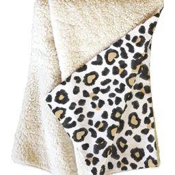 Dash & Ash Leopard Heart Fleece Throw Blanket | Nordstrom Rack