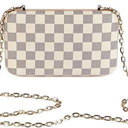Daisy Rose Checkered Minaudiere Evening bag - RFID Blocking Cross body clutch -PU Vegan Leather (...   Walmart (US)