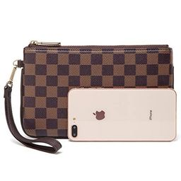 Daisy Rose Checkered Zip wristlet Wallet and Phone Clutch - RFID Blocking with Card Holder Organi...   Walmart (US)