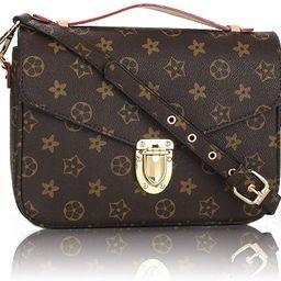 HUA Designer Shoulder Bags for women, Retro Crossbody Purse and Handbags, Monogram messager bag   Amazon (US)