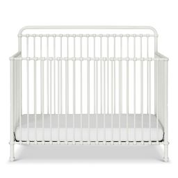 Million Dollar Baby Classic Winston 4-in-1 Convertible Iron Crib (Color: Washed White) | The Tot
