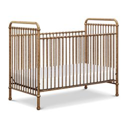 Million Dollar Baby Classic Abigail 3-in-1 Convertible Iron Crib (Color: Vintage Gold) | The Tot
