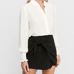 Smocked Cuff Shirt | Express