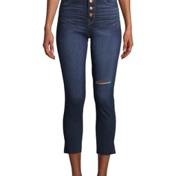 Time and Tru JeansTime and TruTime and Tru Women's REPREVE Exposed Button Skinny JeansAverage rat...   Walmart (US)