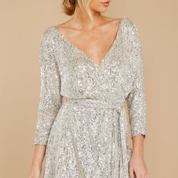 Show Stopper Champagne Sequin Dress | Red Dress
