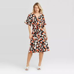 Women's Flutter Elbow Sleeve Tie Waist Dress - Who What Wear™ | Target