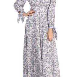 Florence Floral Tie Cuff Long Sleeve Maxi Dress | Nordstrom