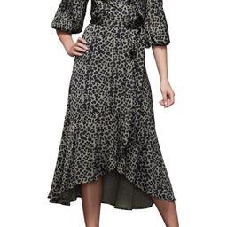 The Wrap Body Leopard Print Midi Dress   Nordstrom