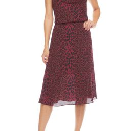 Zherra Leopard Print Cowl Neck Halter Dress   Nordstrom