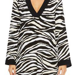 Zebra Print V-Neck Cover-Up Tunic   Nordstrom