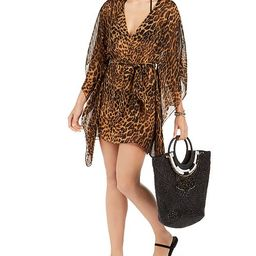 Leopard Print Tunic Swim Cover-Up   Macys (US)