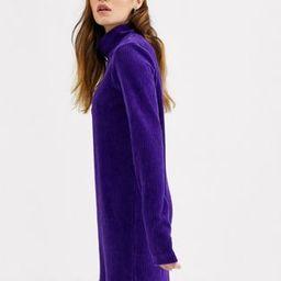 Weekday Lova Dress in Dark Purple   ASOS US