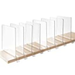 StorageMaid - Acrylic Shelf Dividers for Bedroom Closets, Kitchen Cabinets, Wood Shelves, Bookcases  | Amazon (US)