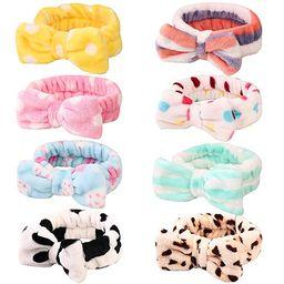 8 Pack Spa Headband, Coral Fleece Makeup Headband Cosmetic Headband for Washing Face, Bow Headban... | Amazon (US)