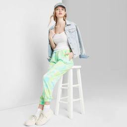 Women's High-Rise Tie-Dye Sweatpants - Wild Fable™ Green   Target