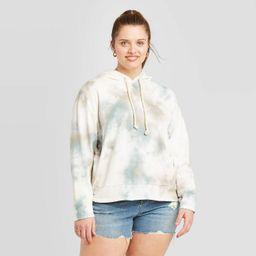Women's Plus Size Crewneck Tie-Dye Hoodie Sweatshirt - Universal Thread™ Blue   Target