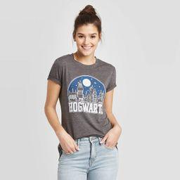 Women's Harry Potter Hogwarts Short Sleeve Graphic T-Shirt (Juniors') - Charcoal Heather | Target