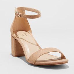 Women's Michaela Mid Block Heel Sandal Pumps - A New Day™ | Target
